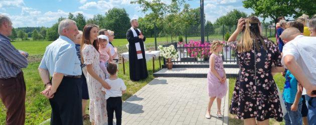 Poświęcenie krzyża w Czałczynie